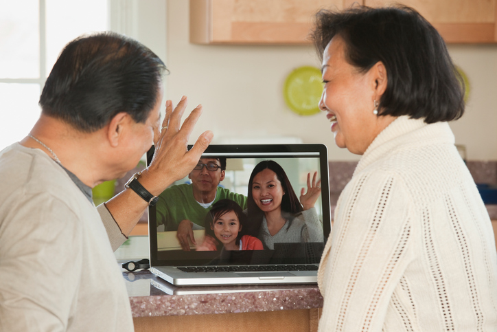 Filipinos sharing ofw life abroad on tablet