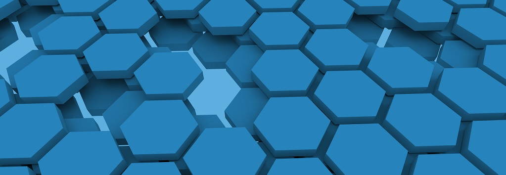 blue hexagonal honeycomb cells